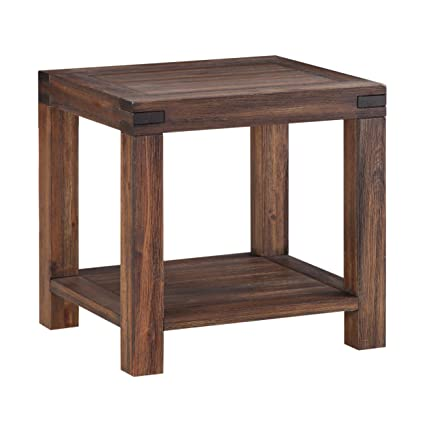 Amazoncom Modus Furniture 3F4122 Meadow End Table Brick Brown