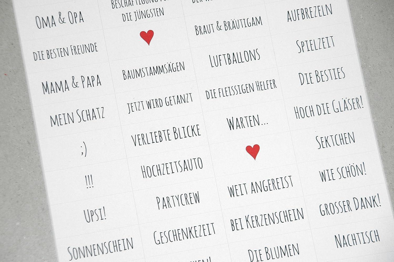 Sticker zum Fotoalbum gestalten - Hochzeit II
