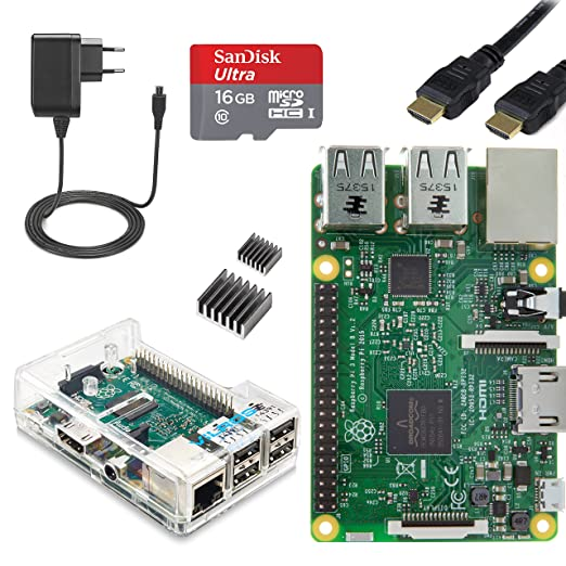242 opinioni per Vilros Raspberry Pi 3 Complete Starter Kit--EU Plug Edition