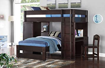 Amazon Com Acme Furniture 37495 Lars Loft Bed With Desk Chair