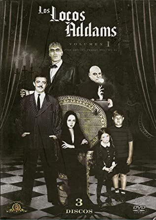 The Addams Family Volume 1 Los Locos Addams Volumen 1 Ntsc Region 1 4 Dvd Import Latin America Tv Series 1964 1966 3 Discs Subtitles English Spanish Portuguese John