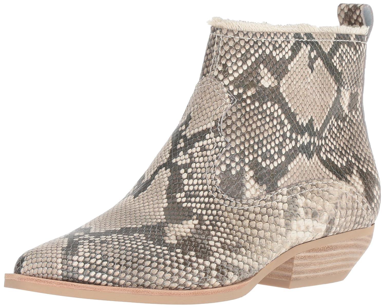 Dolce Vita Women's Unity Ankle Boot B07B9MLV3M 7 B(M) US|Snake Print Embossed Leather