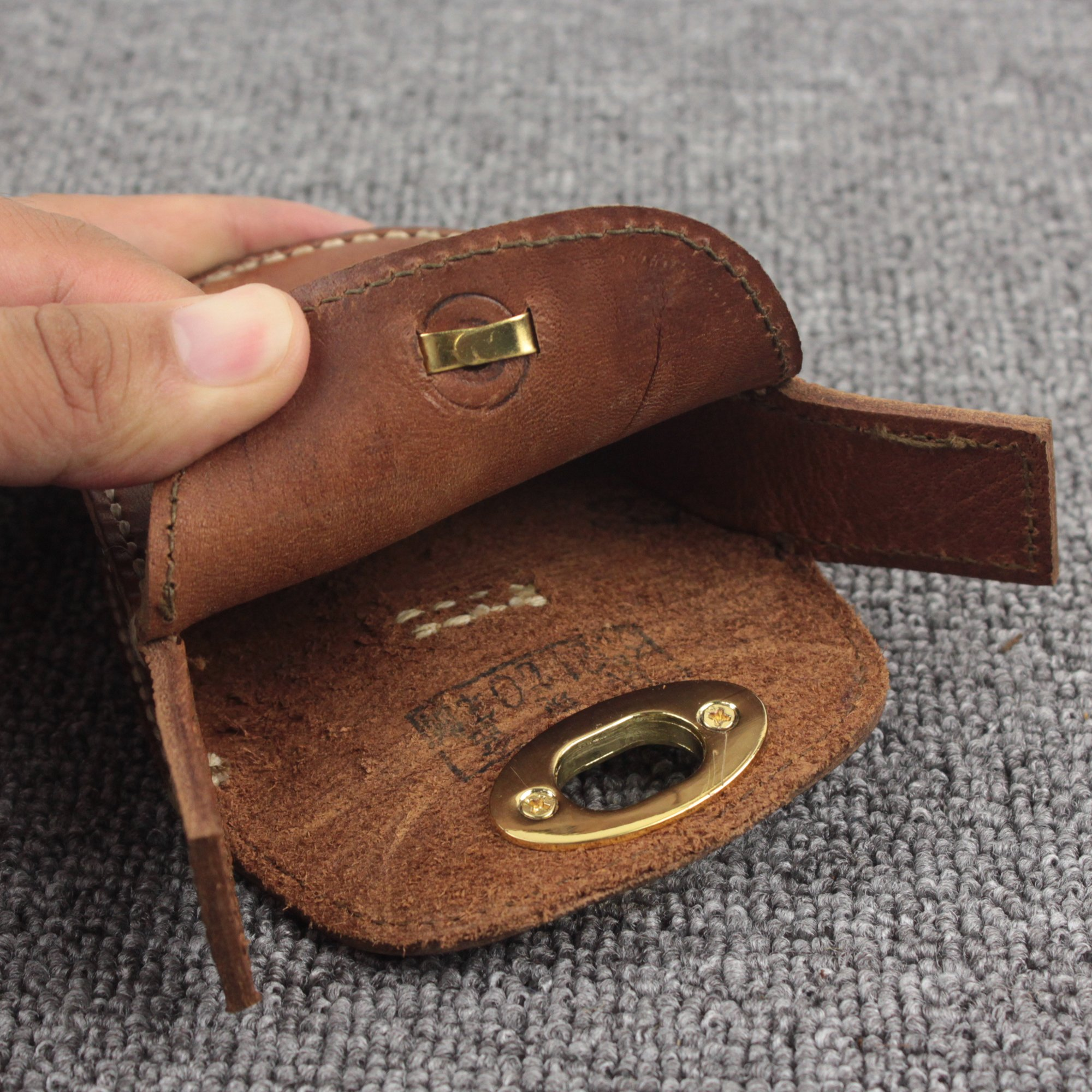 Thick Geninue Leather Handmade Pellets Ammo Storage Bag Pouch hunting outdoor by Unknown (Image #4)