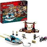Lego Juniors Jurassic World - La poursuite en bateau de Zane - 10755 - Jeu de Construction