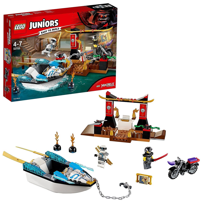 LEGO Juniors 10755 - Zanes Verfolgungsjagd mit dem Ninjaboot, Kinderspielzeug LEGO®
