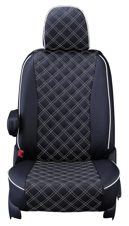 クラッツィオ シートカバー フリード GB5/GB6/フリードハイブリッド GB7/GB8 H28/10~6人乗り Clazzio キルティング ブラック×ホワイトステッチ EH-0440 B071P7D9X1 ブラック×ホワイト ブラック×ホワイト
