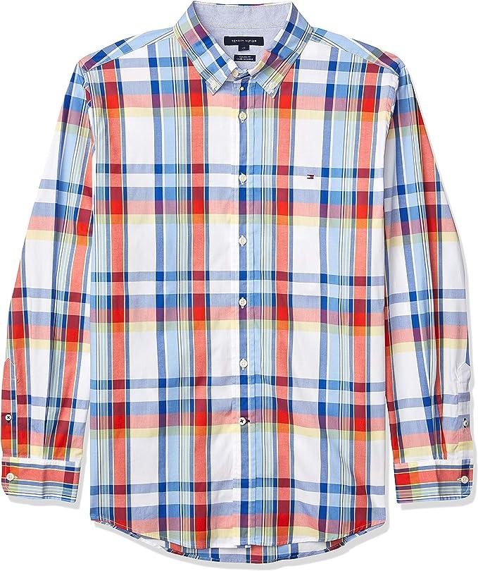 Tommy Hilfiger 汤米希尔费格 男式格纹长袖衬衫 3.4折$23.93 海淘转运到手约¥184