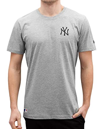 New Era Men Overwear T-Shirt Team Apparel NY Yankees Grey M  Amazon ... d753cf9673f0