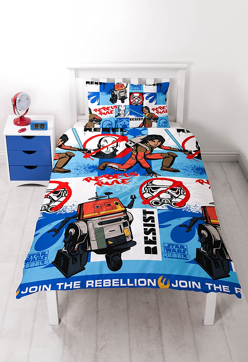 Disney Character world Star Wars Rebels Tag Single Rotary Duvet Set DSRTAGDS002UK1