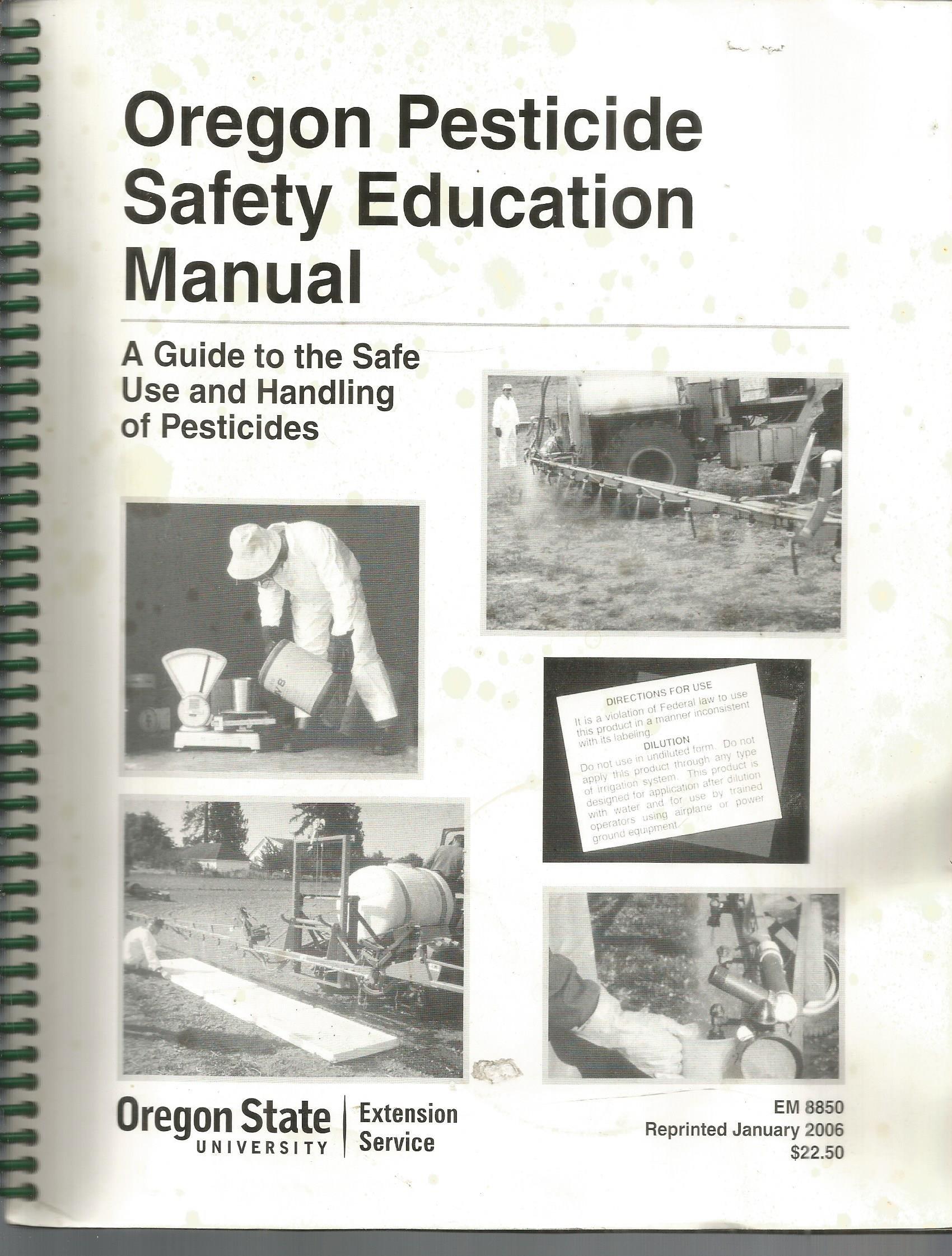 oregon pesticide safety education manual myron shenk amazon com books rh amazon com oregon pesticide safety education manual pdf Pesticide Awareness