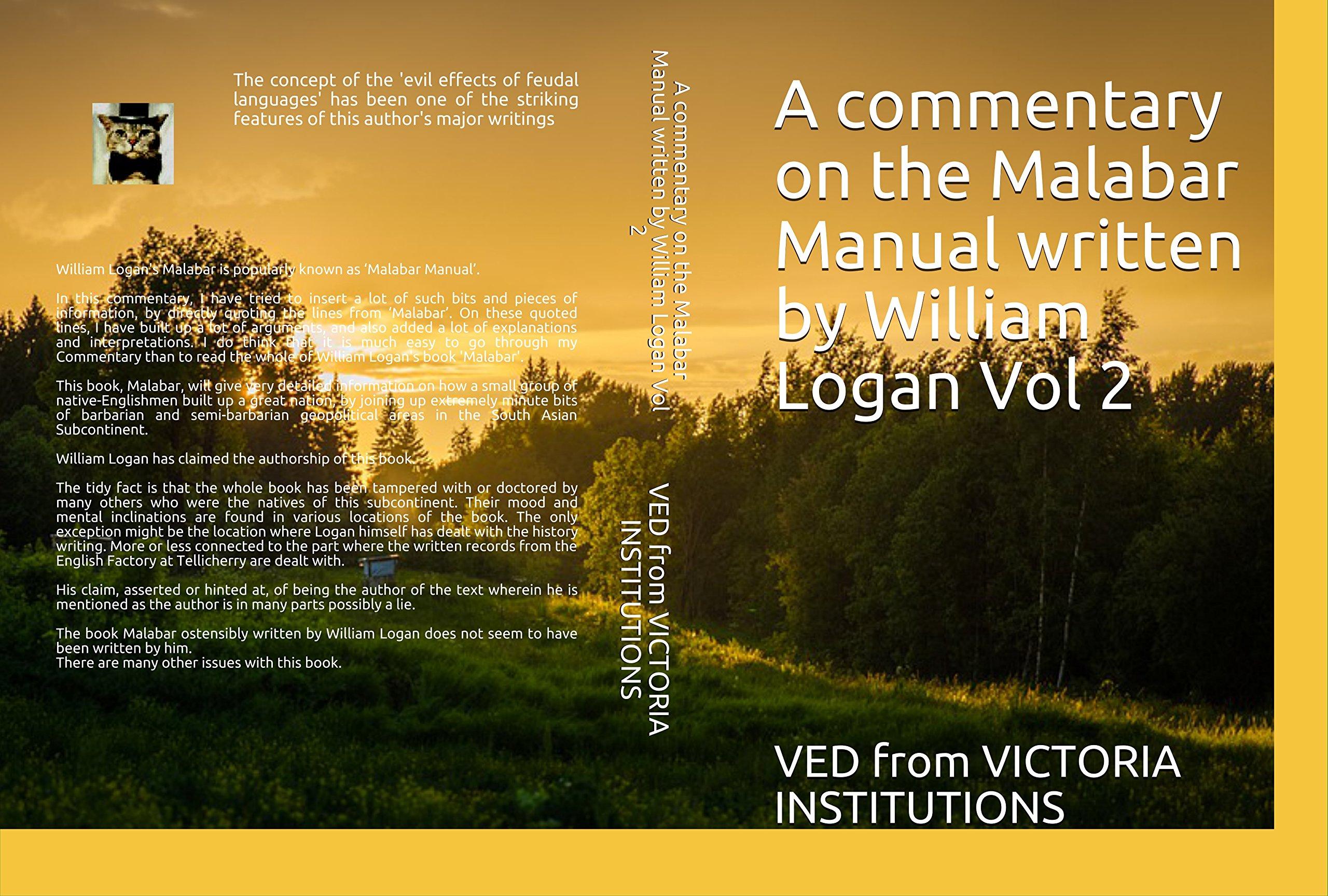 buy a commentary on the malabar manual written by william logan vol rh amazon in malabar manual william logan pdf Logan Williams GIF