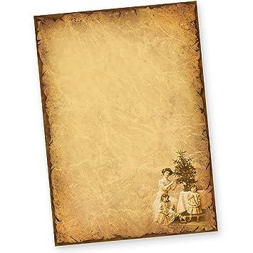 Briefpapier Weihnachten NOSTALGIE 50 Blatt Vintage alt ...