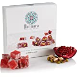 Turkish Delights with Pomegranate Pistachio Authentic Hand Made Gourmet Sweet Candy Box Dessert 8.8 ounce 12-16 Large 2…