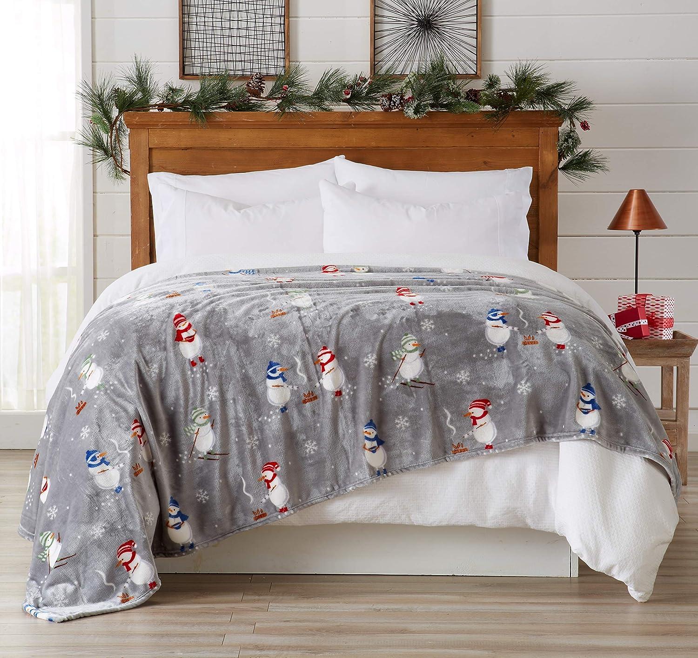 Super Soft Velvet Plush Christmas Design. (Snowman)