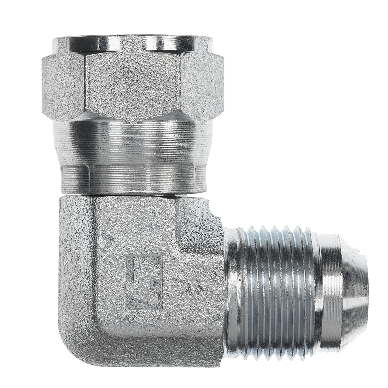 Brennan Industries 6500-12-16-FG Forged Steel 90 Degree Elbow Tube Fitting 3//4 Male JIC x 3//4 Female JIC Swivel 1-1//16-12 SAE x 1-5//16-12 SAE Thread 3//4 Male JIC x 3//4 Female JIC Swivel Inc. 1-1//16-12 SAE x 1-5//16-12 SAE Thread
