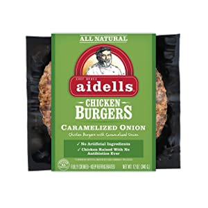 Aidells, Burger Chicken and Caramelized Onion, 12 oz. (Fully Cooked)