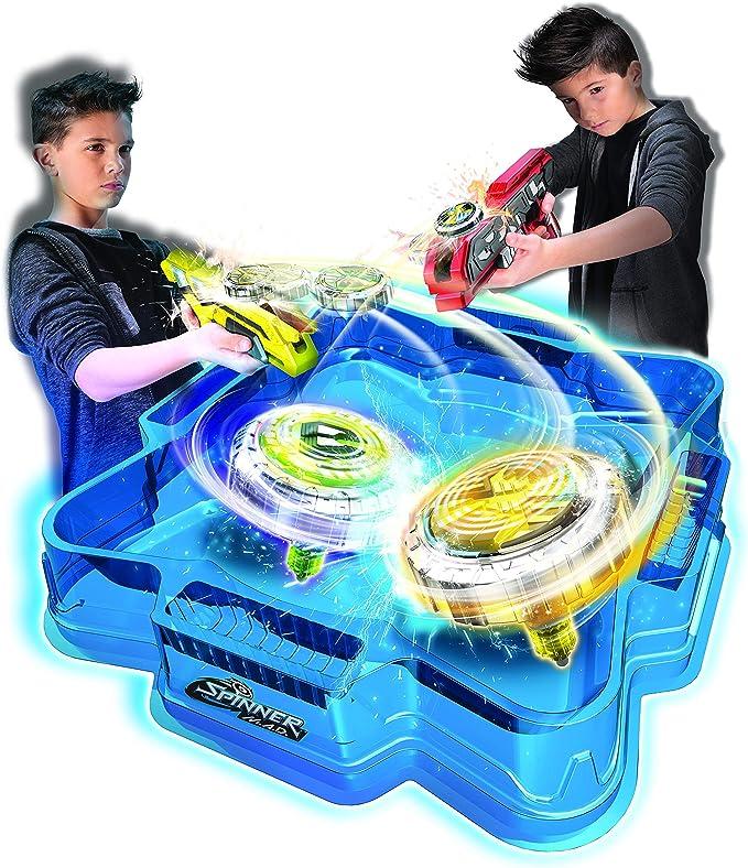 Spinner Mad Deluxe con 2 Pistolas 2 Trompos y Arena: Amazon.es: Juguetes y juegos