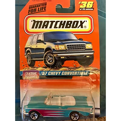 Matchbox Classic Decades Series 1:64 Scale '57 Chevy Convertible #36 of 75: Toys & Games