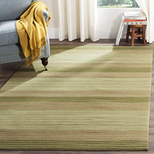 Safavieh Marbella Collection Flat Weave Wool Area Rug, 8 x 10 , Green