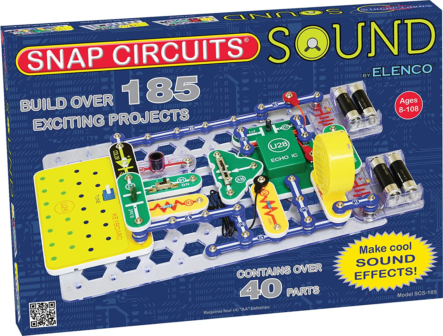 Snap Circuits Sound Electronics Discovery Kit Toys Games Learn About With Junior