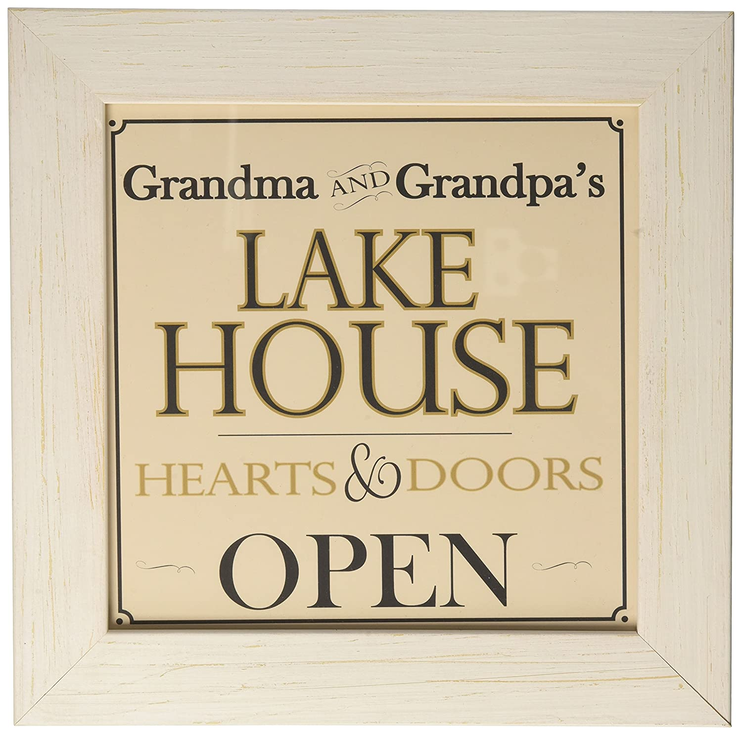 The Grandparent Gift Co, Grandma and Grandpa House Welcome Sign for Lake