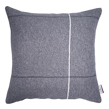 Tom Tailor T Soft Wool Kissenhulle Baumwoll Mischgewebe Anthrazit 50