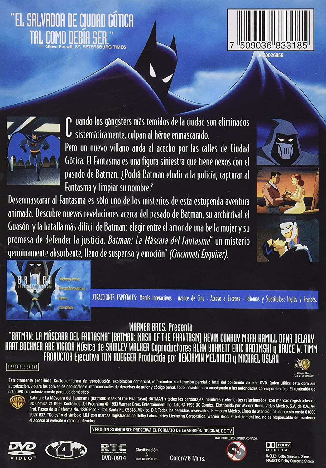 Amazon.com: BATMAN:LA MASCARA DEL FANTASMA (BATMAN:MASK OF THE PHANTASM): Movies & TV