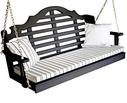 Marvelous Amazon Com Wood Porch Swing Amish Outdoor Hanging Porch Alphanode Cool Chair Designs And Ideas Alphanodeonline
