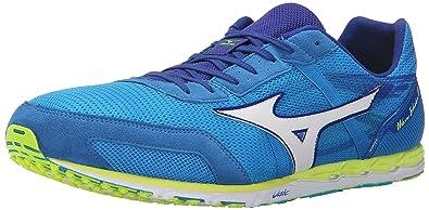 a28f7125a324 Mizuno Wave Ekiden 10 Running Shoe, Dude Blue/White, 6.5 D US
