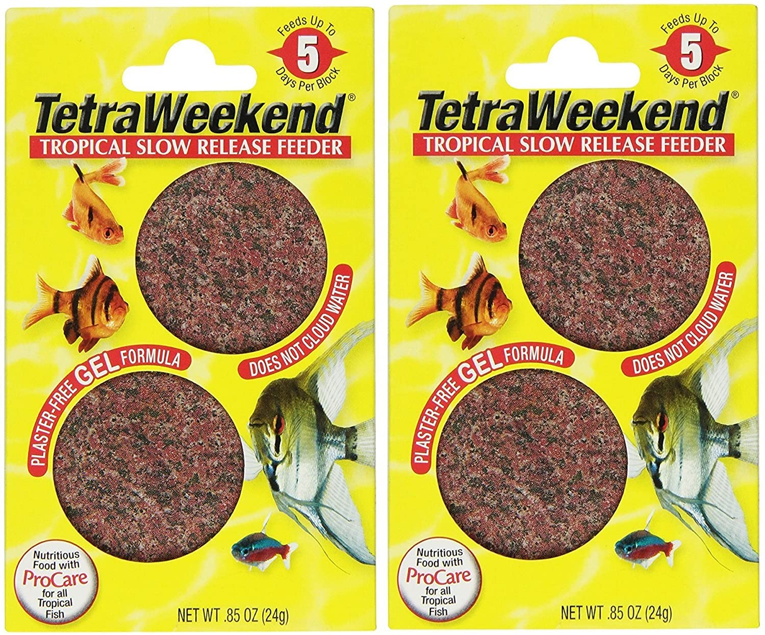 Tetra 77151 TetraWeekend Tropical Slow-Release 5-Day Feeder, 4 Count
