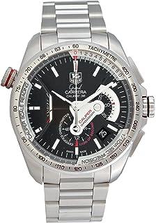98005d7fd9c TAG Heuer Men s CAV5115.BA0902 Grand Carrera Automatic Chronograph Black  Dial Watch