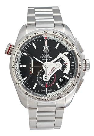 ada72813b5a Amazon.com: TAG Heuer Men's CAV5115.BA0902 Grand Carrera Automatic  Chronograph Black Dial Watch: Tag Heuer: Watches