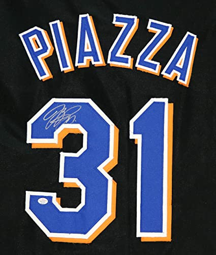 brand new 38b88 d2469 Mike Piazza New York Mets Signed Autographed Black #31 ...