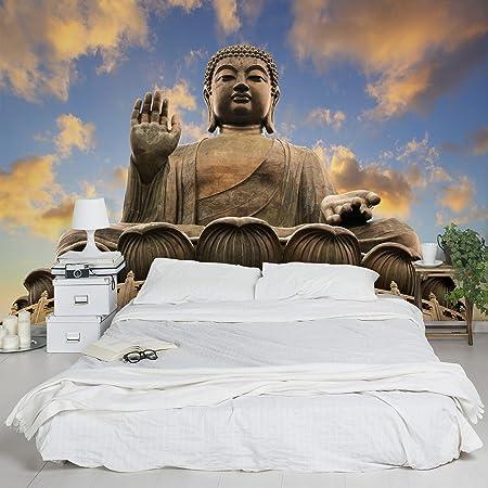 Non-woven wallpaper Premium - Big Buddha - Mural Landscape Format ...