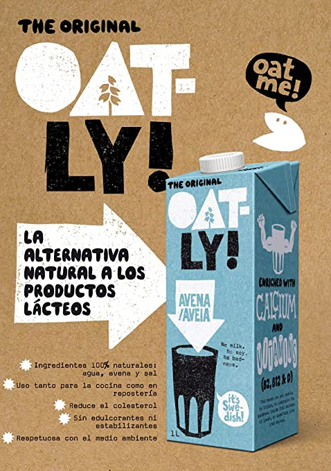 Oatly Bebida de Avena con Calcio - 1000 ml: Amazon.es: Alimentación y bebidas