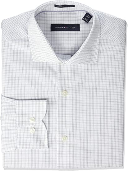 Tommy Hilfiger Men's Dress Shirt Regular Fit Non Iron Check