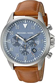 07522fddc9d3 Amazon.com  Michael Kors Men s Paxton Brown stainless steel-Tone ...