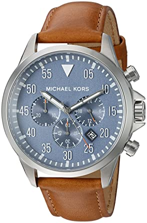 f319f7374014 Amazon.com: Michael Kors Men's Gage Silver-Tone Watch MK8490: Watches