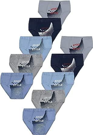 PiriModa - Calzoncillos de algodón para niño, 5/10 unidades, tallas 92-164, edad 2-14 años