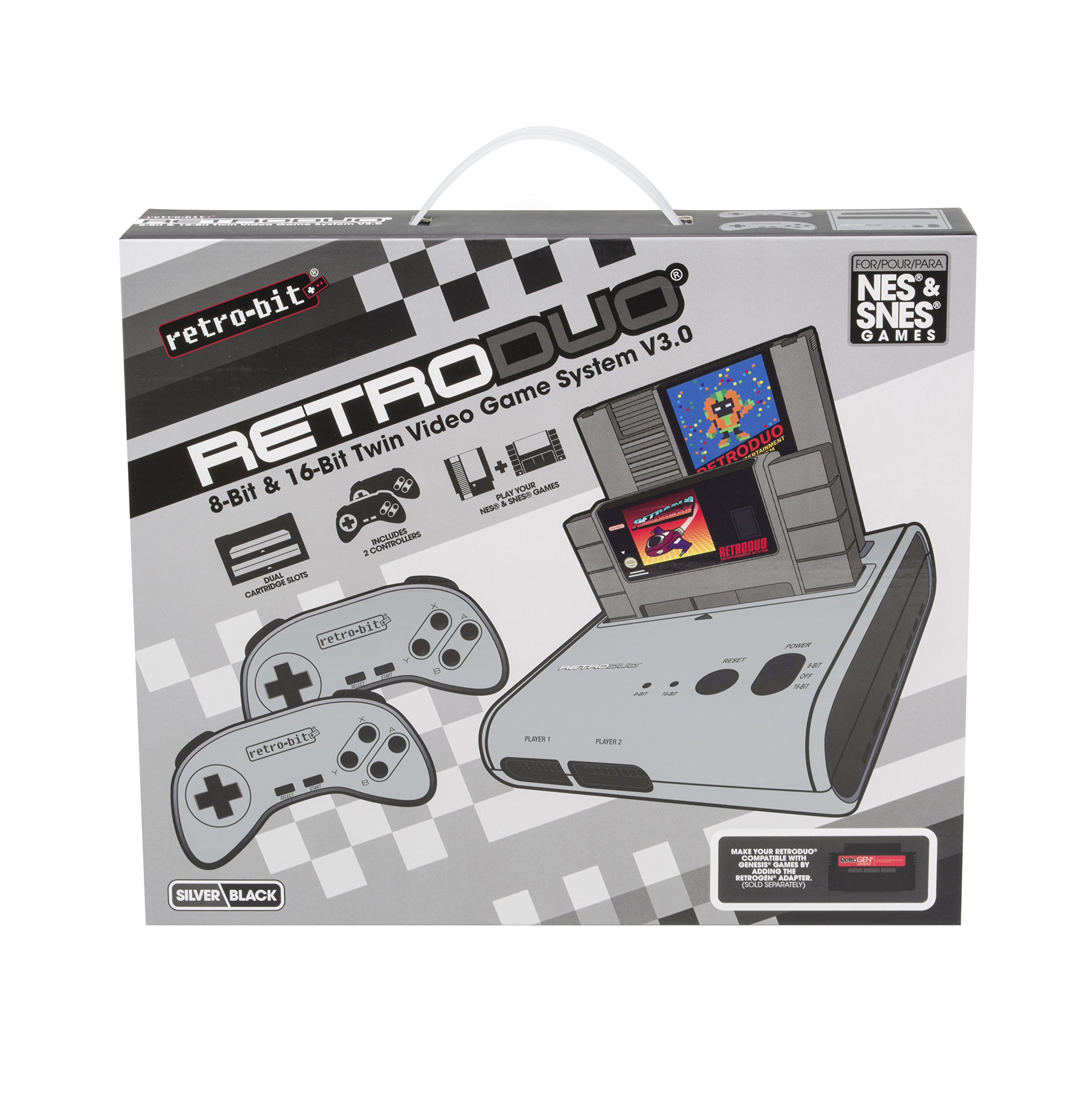 Retro-Bit Retro Duo Twin Video Game System, Silver/Black by Retro-Bit (Image #6)