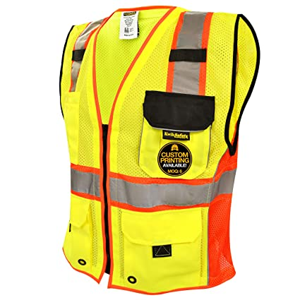 Smart Reflective Safety Vest Pockets Breathable Yellow Orange Mesh Vest Work Wear Workplace Safety Supplies Security & Protection
