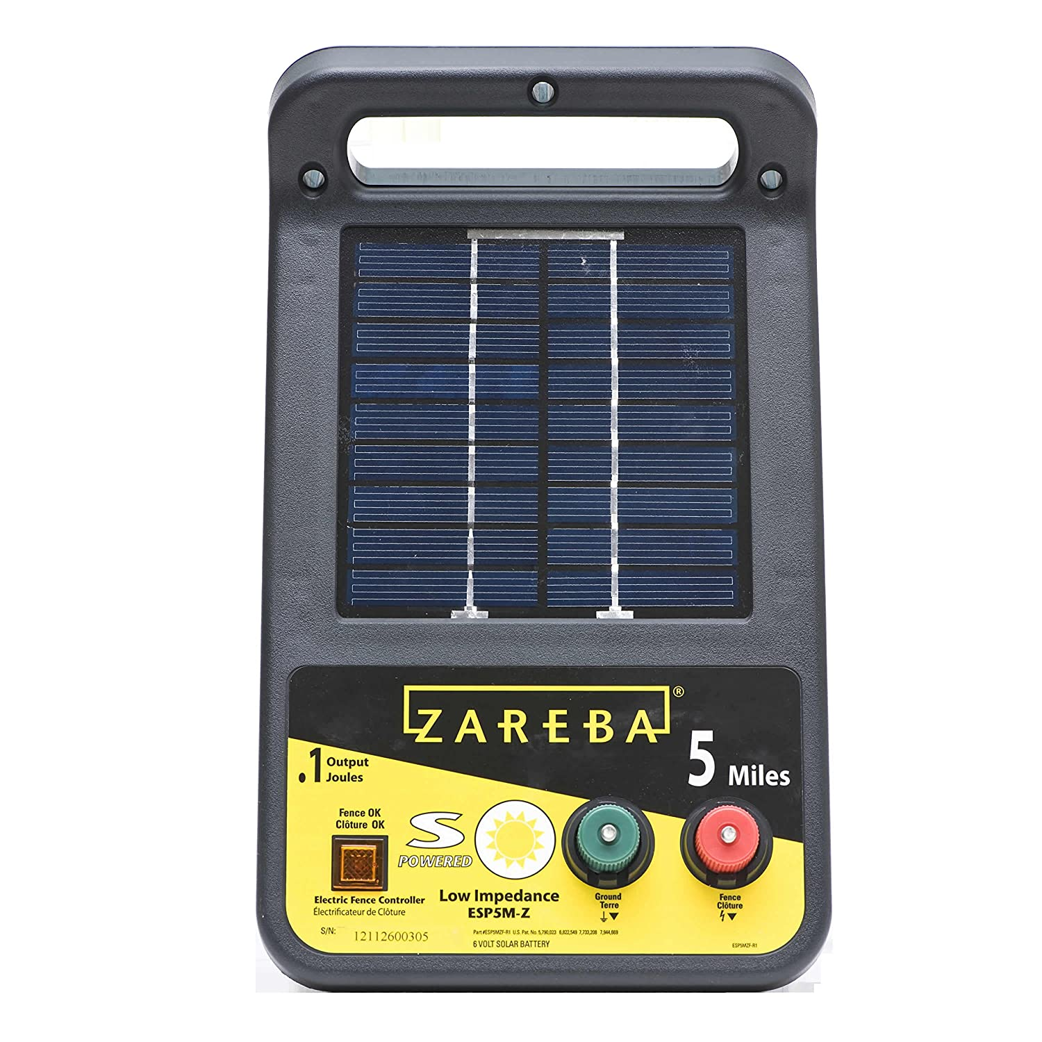 91cfaHQBf4L._SL1500_ amazon com zareba esp5m z 5 mile solar low impedance charger Electric Fence Circuit Diagram at mifinder.co
