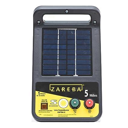 Amazon Zareba Esp5m Z 5 Mile Solar Low Impedance Charger