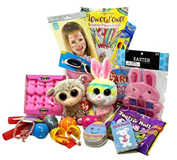 Amazon Com Kids Easter Basket For Girls Ty Beanie Boo Bunny