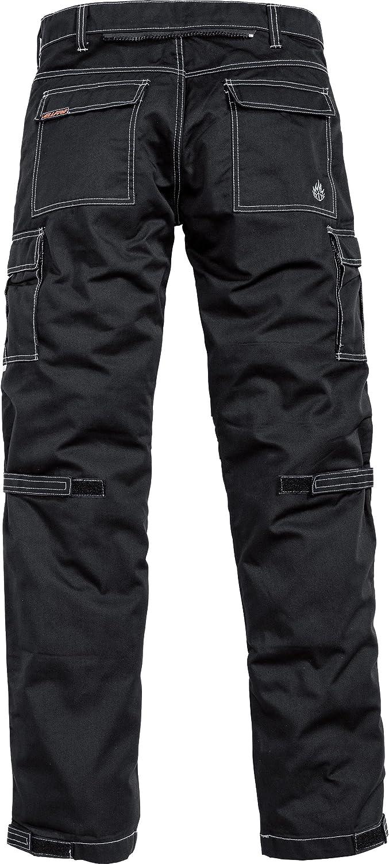 Hellfire Motorradhose Hose Mit Aramidverstärkung 1 0 Schwarz 3xl Herren Fighter Sommer Textil Bekleidung