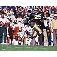 """$69 » Raghib""""Rocket"""" Ismail Notre Dame Fighting Irish Autographed 16"""" x 20"""" Running Photograph - Autographed College Photos"""
