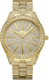 JBW Women's Luxury Cristal 0.12 ctw Diamond 18k Gold-Plated Stainless Steel Analog Watch J6346A