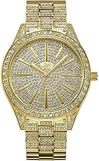85ead2199eee JBW Luxury Women s Cristal 0.12 Carat Diamond Wrist Watch with Stainless  Steel Link Bracelet
