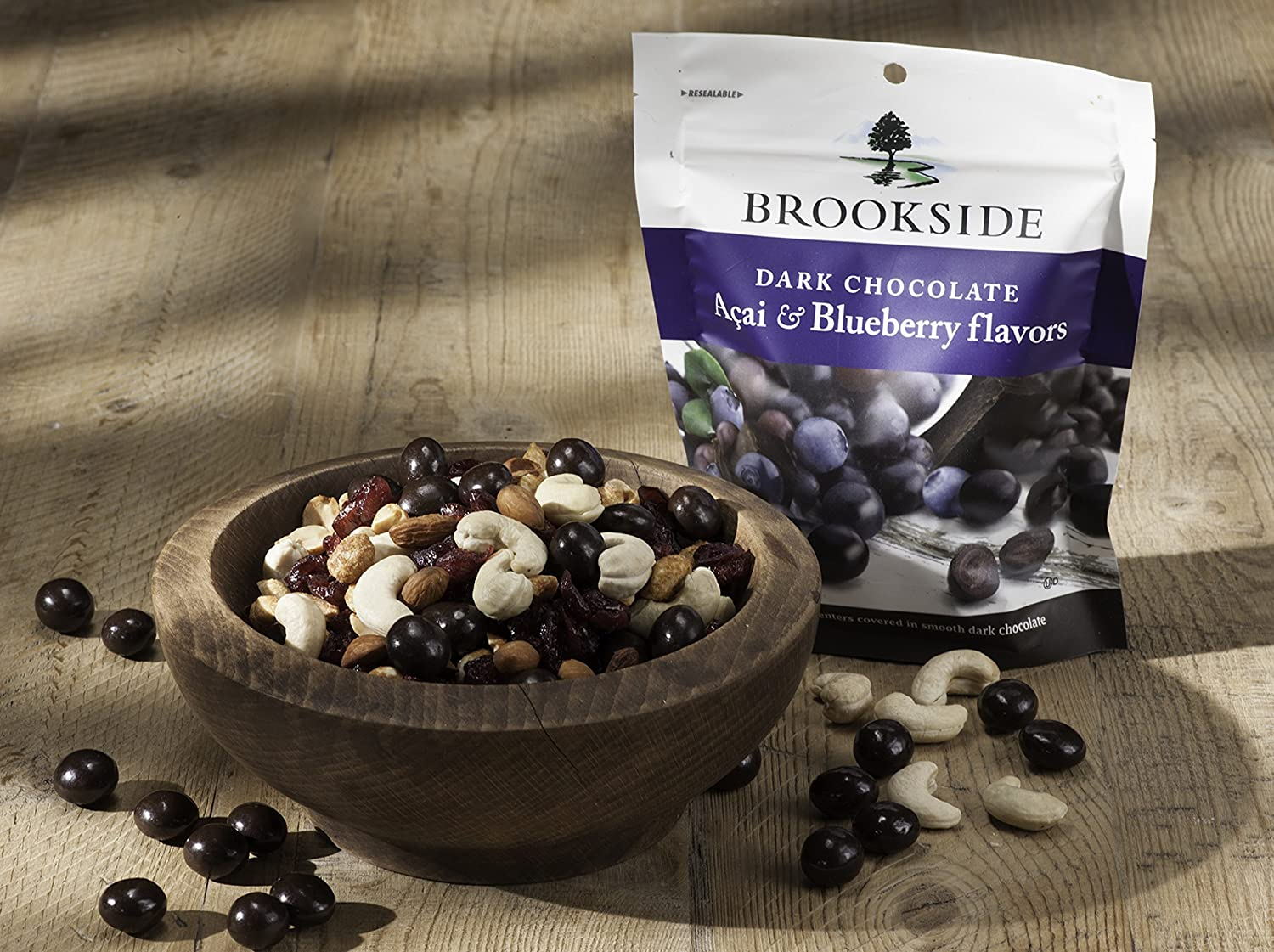 Amazon.com : Brookside Dark Chocolate Candy, Acai and Blueberry ...