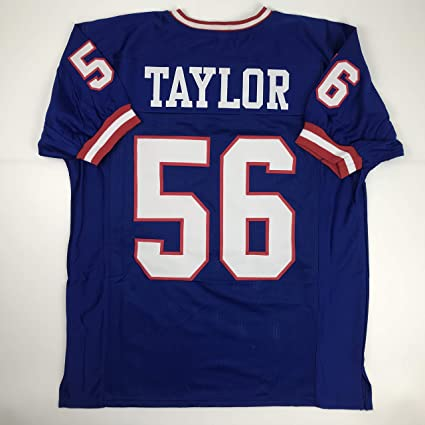 a83e25eeb Unsigned Lawrence Taylor New York Blue Custom Stitched Football Jersey Size  Men's XL New No Brands